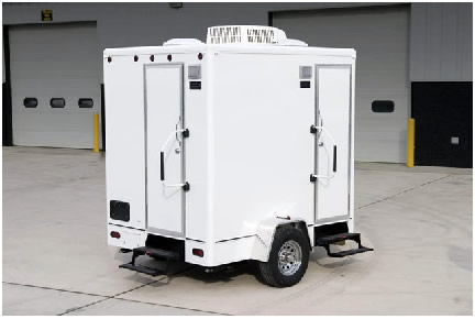 Small gatherings rentable Restroom Trailers
