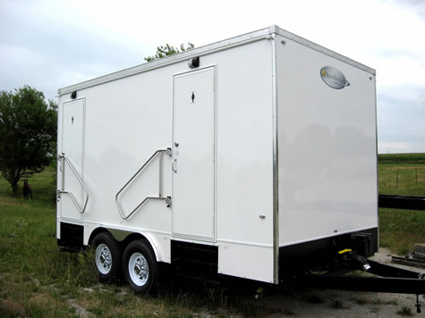 Alpine 5 Stall Portable Restroom Trailer
